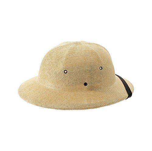 Natural Tan Seagrass Pith Safari Jungle Helmet Hat (Pith Helmet)