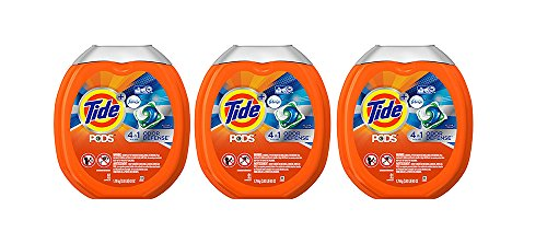 Tide PODS Plus Febreze Odor Defense Laundry UJiGx Detergent Pacs, Active Fresh Scent, Designed For Regular and HE Washers, 61 Count (3 Pack) by Tide