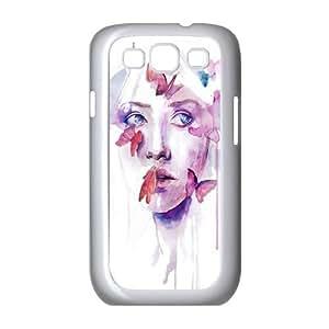 Custom Colorful Case for Samsung Galaxy S3 I9300, Art Design Of Girl Cover Case - HL-R673734