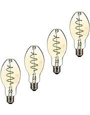 LED-lamp, E27, amber glas, warm licht, klasse A +, verduisteren