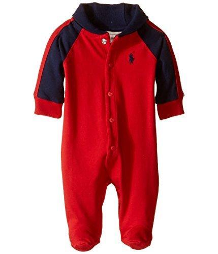 Ralph Lauren Baby Boys Cotton Shawl-Collar Coverall (Newborn, (Mos Coverall)