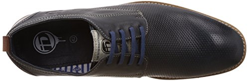 Sneakers In Pelle Da Uomo Blu