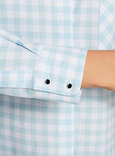 b1048de86 Azul7010c Ancha Manga Ultra Oodji De Longitud Regulable Mujer Camisa Con  PnkX0w8O