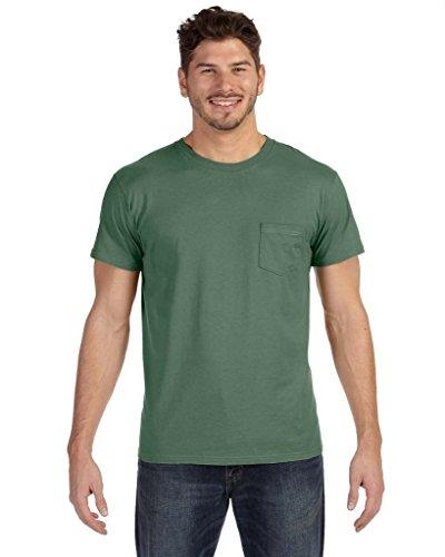 Hanes Mens Nano-T Pocket T-Shirt_Vintage Green_3XL