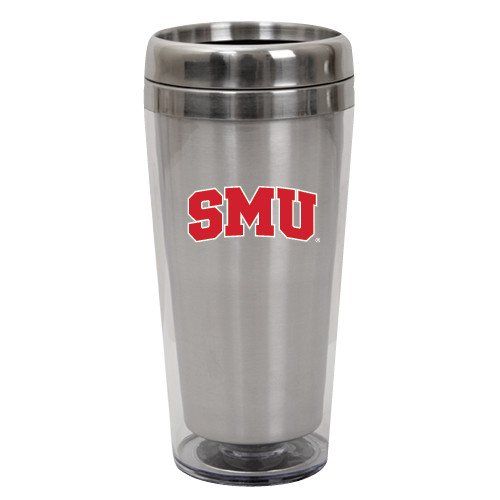 SMU Solano Acrylic Silver Tumbler 16oz 'Block SMU'