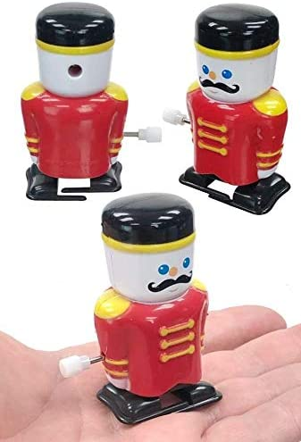 Yonezawa Mid Century Toys Christmas Home Decor Windup Tinplate Marching Soldier Toy Clapping Symbols