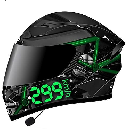 Bluetooth Helm Motorrad Damen Herren, Motorradhelm Integralhelm Rollerhelm mit Doppelvisier, ECE Genehmigt Sturzhelm für…