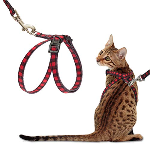 Figure Harness - PUPTECK Cat Harness with Leash Set - Adjustable Soft Strap with Figure 8