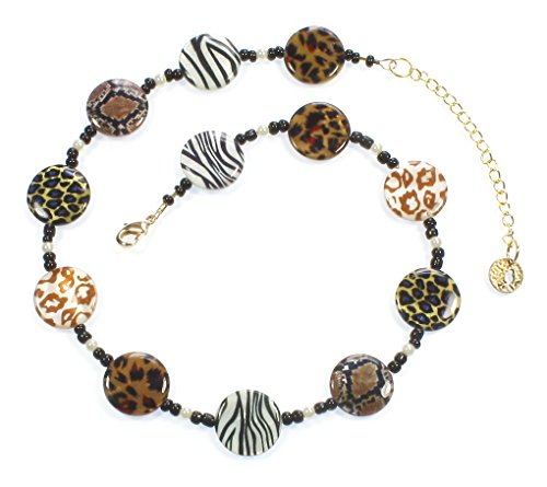 Style-ARThouse Take Me on a Safari! Animal Print Necklace, 18 Inches (Set Necklace Animal Print)