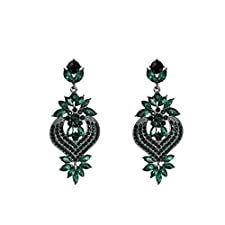 Remote Women Funny Toys Rhinestone Statement Earrings Flower Drop Dangle Earring 2018 Fashion Earing Trendy Wholesale Wedding Jewelry,green,red G Spot