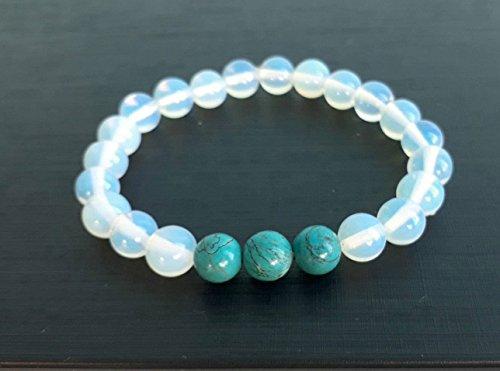 Opal stone bracelets,turquoise bracelets,beaded bracelets,stretch bracelets,men women bracelets,gift bracelets,friendship bracelets
