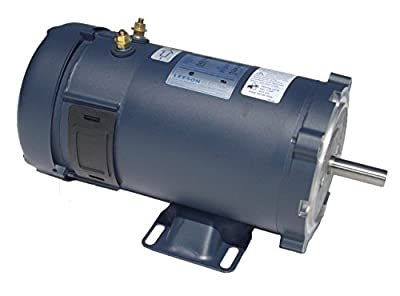 1 hp 1800 RPM 56C Frame 12 Volts DC TEFC Leeson Electric Motor # 108322
