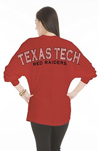 NCAA Texas Tech Red Raiders Women's Jade Long Sleeve Jersey, Small, Red