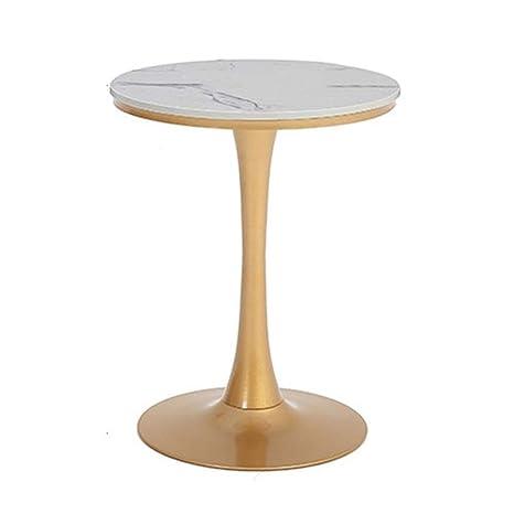 Amazon.com: ZHIRONG mesa auxiliar de salón de mármol pequeña ...