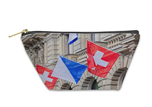 Gear New Accessory Zipper Pouch  Facade Of The Credit Suisse Building Decorated With Flags  Small  5970829Gn