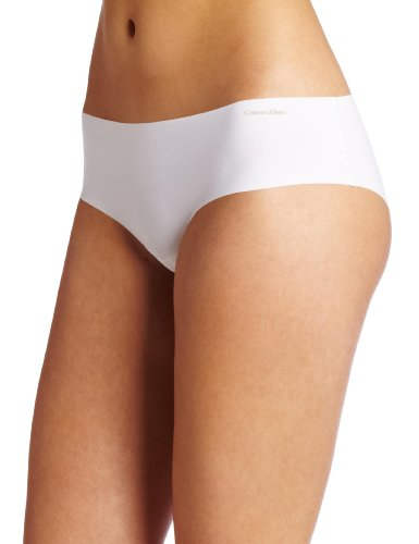 Calvin Klein Women's Invisibles Hipster Panty, White, Medium