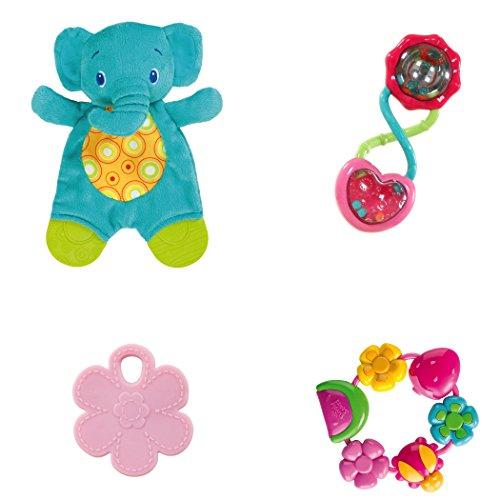 Bright Starts Teething Fun Gift Set, Pretty in Pink
