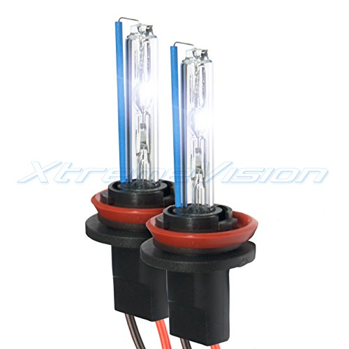 XtremeVision HID Xenon Replacement Bulbs - H11 5000K - Bright White (1 Pair) - 2 Year Warranty ()