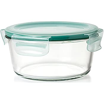 Oxo Good Grips 7 Cup Snap Leak Proof Glass Round Food