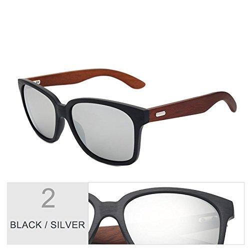 similar Gafas azul Unisex espejo con en clásicas sol negro Black Sunglasses de de TL madera piernas granos nogal el gafas de Silver de acetato 1xvqc5