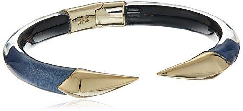 Alexis Bittar Cuff Bracelet - Alexis Bittar Mirrored Pyramid Brake Hinge Navy Cuff Bracelet