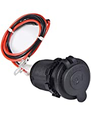 Enisina sigarettenaansteker, waterdicht Marine Grade 12V / 24V gelijkstroom-aanstekerstopcontact voor boot motorfiets auto met 0,6 m aansluitkabel