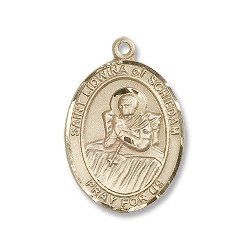 14 ktゴールドSchiedamのセントLidwinaメダル B008JL62FY