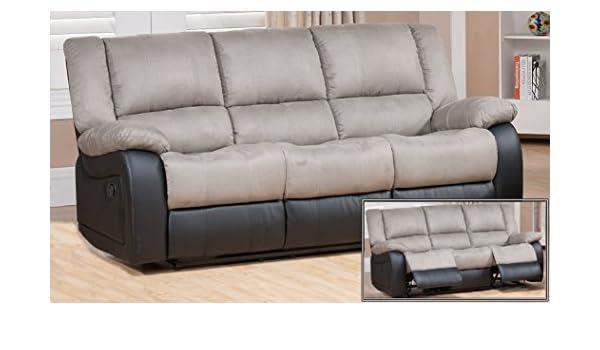 MUEBLES MATO - Sofas 3 plazas eli reclinable: Amazon.es: Hogar