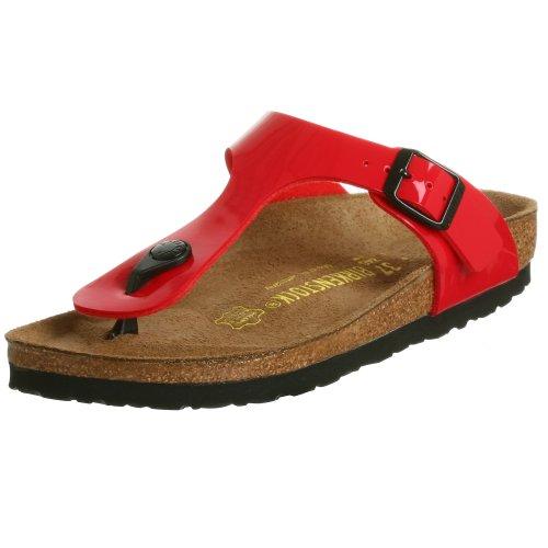 b558aa1f45037 Birkenstock Gizeh Patent Leather Sandal,Red patent,37 M EU