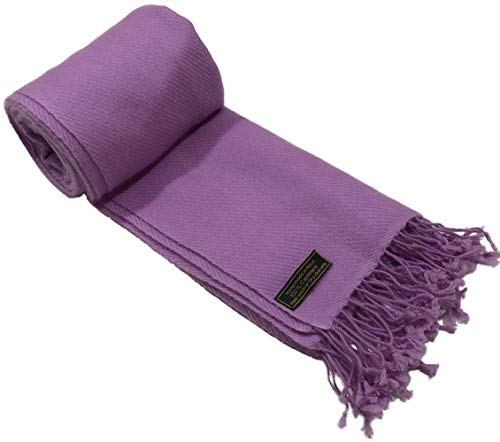 Lilac High Grade 100% Cashmere 2 Ply Shawls Hand Made in Nepal Shawl Pashmina CJ Apparel NEW ()