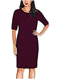 Ladies Knit Dress (S, Purple)