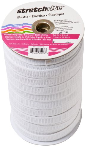 (Stretchrite 1NSS1102WHTE Stretchrite 3/4-Inch by 75-Yard White polyester Woven Elastic Roll)