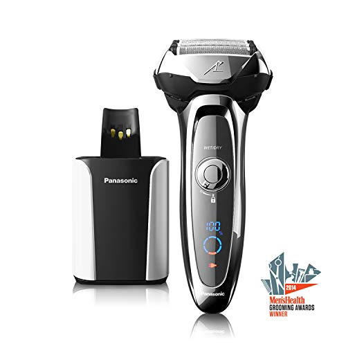 Panasonic ARC5 Electric Razor For Men, 5 Blades Shaver & Trimmer, Shave Senor Technology, Automatic Clean & Charge Station, Wet Dry - ES-LV95-S