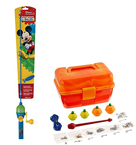 Bundle Includes 2 Items - Shakespeare Disney Mickey Kit and South Bend Worm Gear Tackle