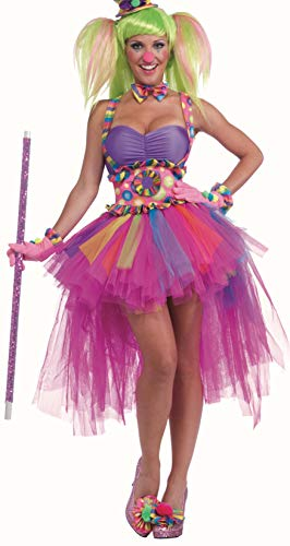 (Forum Circus Sweeties Tutu Lulu The Clown Costume, Pink,)