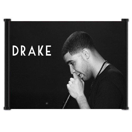 Drake Rap, R & B Singer Fabric Wall Scroll Poster