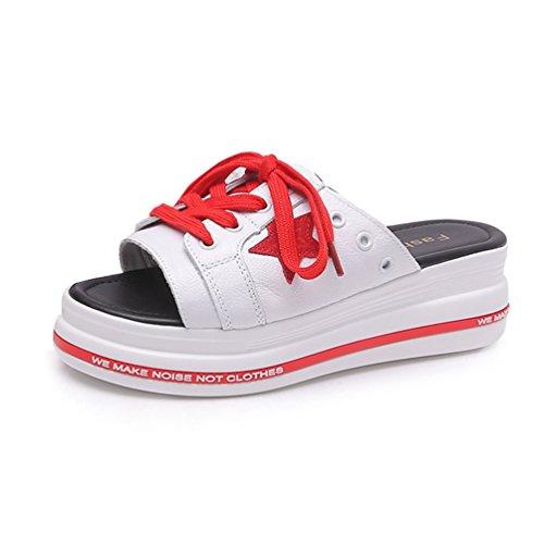 Loisir Femme Talon Noir Rouge Confortable de Sports Marche Chaussures Tongs Sandales Plateforme Rq1tw