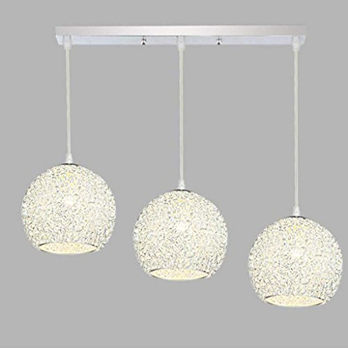 PLLP Household Chandelier, Crystal Palace Ceiling Lamp, Wrought Iron Wall Lamp Led Restaurant Chandelier Three Modern Simple Bar Lamp Creative Clothing Store Dining Room Light Fixture Edition : T -