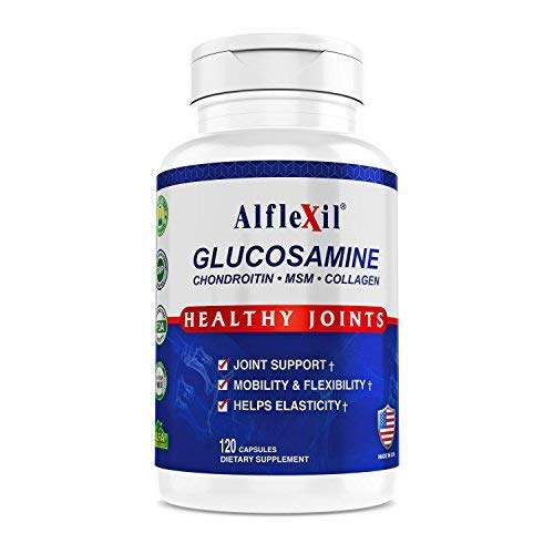 - Alflexil Premium Glucosamine & Chondroitin Nutritional Supplement - Healthy Joint, Bone & Knee Support - Rich In MSM & Collagen - Organic natural Ingredients - Made In USA - 120 Capsules