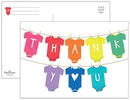Baby Thank You Cards | 50 Postcards | Baby Shower Thank You Postcards | Baby Thank You Notes