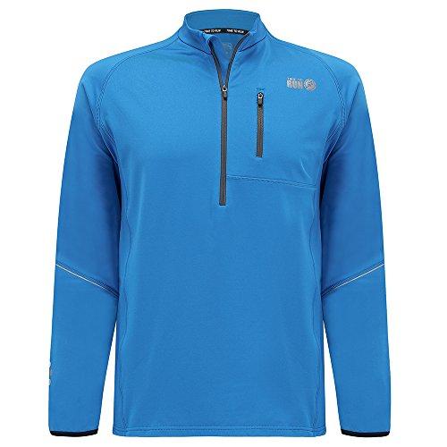 Reflective Running Top (Time To Run Men's Running Long Sleeve Banff Thermo Zip Neck Top Medium 40