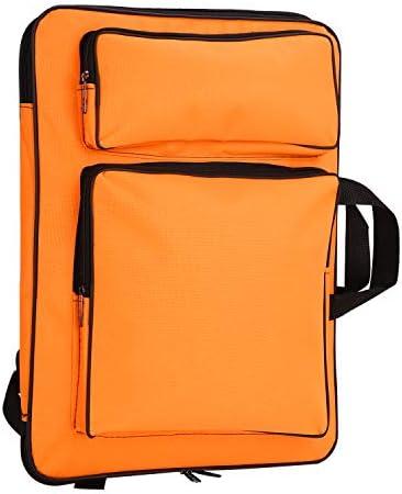 A3 Waterproof Artist Portfolio Backpack Canvas Bag Art Carrying Shoulder Bag with Adjustable Straps Multi-Functional Tote 8K Drawboard Bag Artist Portfolio Painting Art Supplies