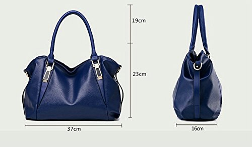 Handle OVOV Handbags Bags Ladies Hobo for Bags Women's Leather Large Women's Black Top PU Shoulder q0rxXBrwU