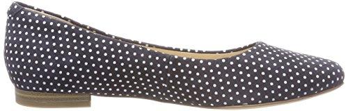 Caprice Dames 22107 Gesloten Ballerina Blauw (marine Dots 811)