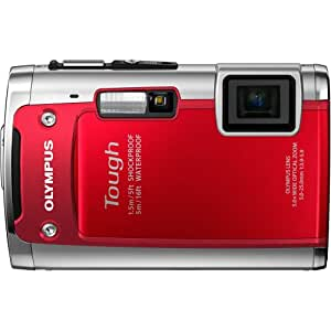 Olympus TG-610 14 MP Digital Camera with 3.6x Optical Zoom, Waterproof, Shockproof, Freezer Proof, 3D, Wi-Fi, 5x Optical zoom (Red)