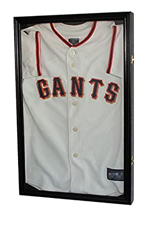 basketball jersey or junior size football jersey display case shadow box frame glass door