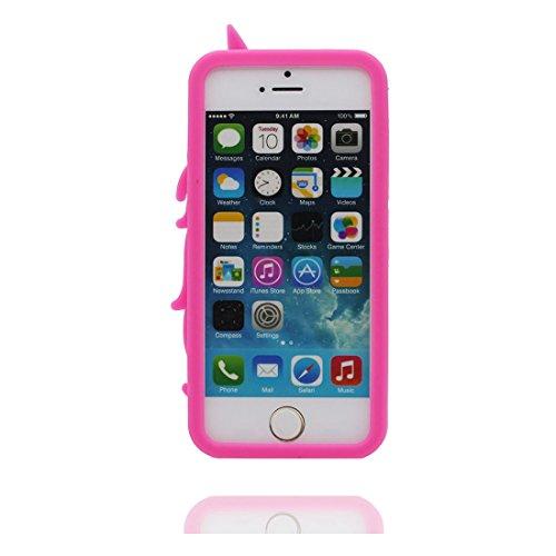 iPhone 5 Hülle, [ TPU materielles flexibles Einhorn stylish Unicorn Noticeable ] Handyhülle für iPhone 5G SE 5s 5C, Staub-Beleg-Kratzer beständig, haltbare weiche case und Touchstift
