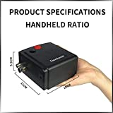 Gocheer 100-250V Professional Gravity Double Action Airbrush Pistol with Small Compressor Silent Kit for Art Tattoo Nail Art Make up Craft Cake Spray Modeling Tool with Airbrush Cleaning Set