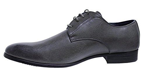 grigio uomo eleganti linea classica Class Scarpe vernice cerimonia t1TUwq