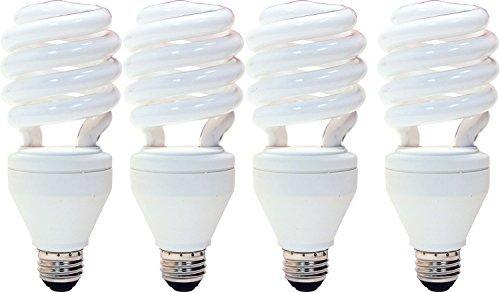 3 Way Cfl Bulbs - GE Energy Smart CFL 3-way 16/25/32-Watt; 600/1600/2150-Lumen, T3 Spiral Medium Base, 4-Pack
